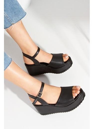 Derithy Sloan Sandalet-Ten-Tnr0300 Siyah